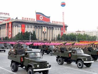 Военный парад в Пхеньяне. Архивное фото ©AFP