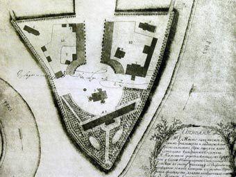 План ярославского кремля 1813 года. Изображение пользователя Ghirlandajo с сайта wikipedia.org