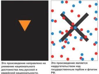 """Две работы из серии """"Радикальный экспрессионизм"""". Изображения из ЖЖ Марата Гельмана"""