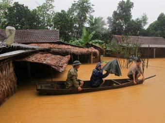 Наводнение во Вьетнаме. Фото ©AFP