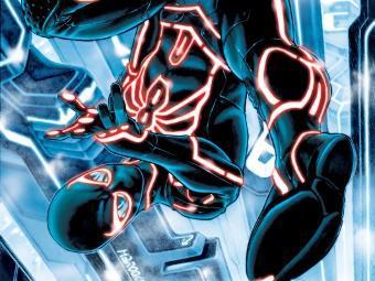 Супергерои из комиксов изображены в