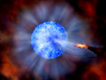 Самая большая черная дыра звездного типа.