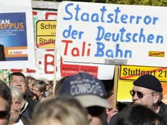 """Акция протеста против """"Штутгарт-21"""". Фото ©AFP"""