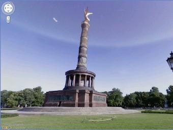 Колонна Победы в Берлине. Изображение Google Street View