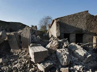 """Обрушившийся """"дом гладиаторов"""". Фото ©AFP"""
