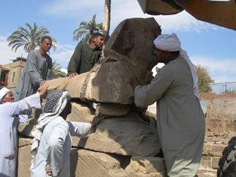 Один из раскопанных сфинксов. Фото с сайта Египетского совета по древностям