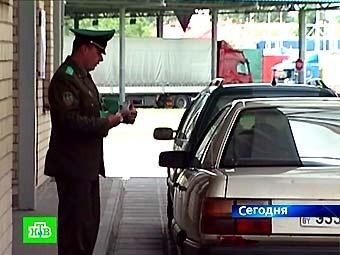 Таможенный пост на белорусской границе. Кадр телеканала НТВ, архив