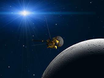 """Компьютерная модель зонда """"Кассини"""". Изображение NASA/JPL"""