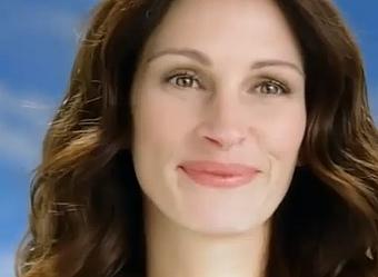 Джулия Робертс в рекламном ролике Lavazza