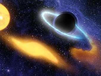 Телескоп поймал черную дыру во время трапезы.