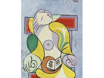 "Картина ""Чтение"" Пабло Пикассо"