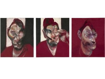 Репродукция триптиха Бэкона. Изображение с сайта Sotheby's
