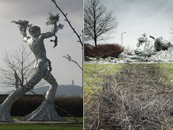 Скульптура до и после аварии. Фото с сайта bbc.co.uk