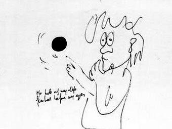 Один из рисунков Джона Леннона