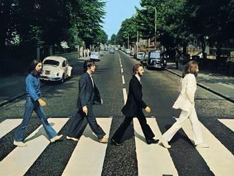 "Фрагмент обложки альбома ""Abbey Road"""