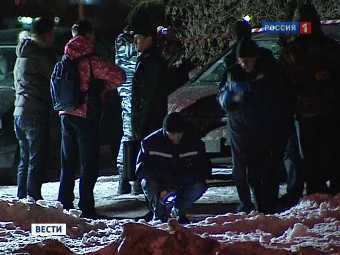 "На месте взрыва. Кадр телеканала ""Россия 1"""