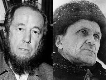 Александр Солженицын (фото ©AFP), Варлам Шаламов (фото Лесняка) в 1970-е годы