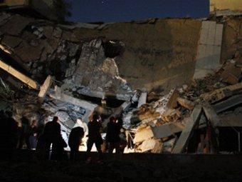 Разрушенное здание резиденции Каддафи в Триполи. Фото ©AFP