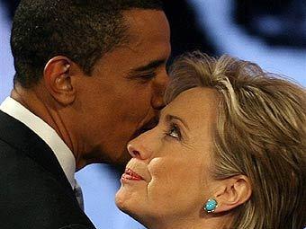 Барак Обама и Хиллари Клинтон. Фото из архива ©AFP
