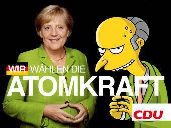 """""""Мы выбираем ядерную энергию"""". Агитационный плакат против политики Меркель в области атомной энергетики. Изображение с сайта lumma.de"""