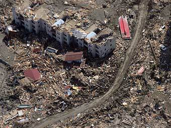 Последствия землетрясения в Японии. Фото ©AFP