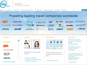 Скриншот главной страницы сайта itasoftware.com