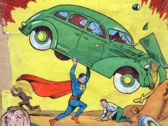 """Фрагмент обложки """"Action Comics No.1"""" 1938 года"""