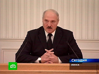 Александр Лукашенко. Кадр телеканала НТВ