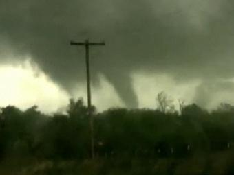 Торнадо в Оклахоме. Кадр The Weather Channel