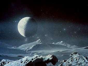 Пейзаж на Плутоне глазами художника. Изображение NASA