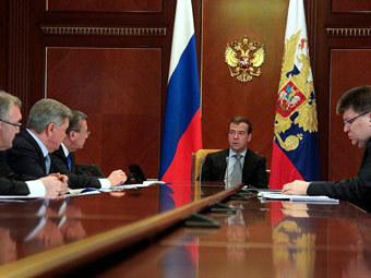 Совещание по вопросам профилактики природных пожаров. Фото пресс-службы президента России