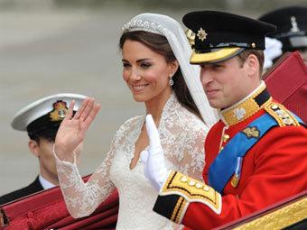 Принц Уильям с супругой Кэтрин. Фото ©AFP
