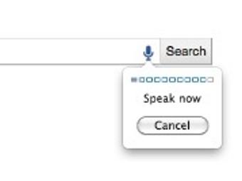 Иконка голосового поиска в поисковой строке Google, иллюстрация с сайта mashable.com