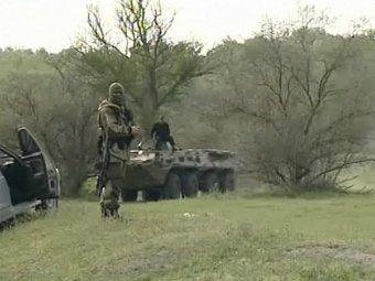 "Спецоперация в Дагестане. Кадр телеканала ""Россия 24"""