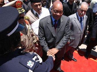 Джейкоб Зума во время визита в Триполи, 30.05.2011. Фото ©AFP