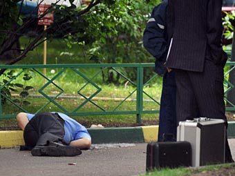 Место убийства Юрия Буданова. Фото ©AFP