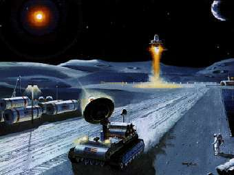 Лунная база глазами художника. Изображение NASA
