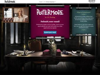 Скриншот главной страницы сайта pottermore.com