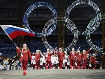 Олимпийская сборная России на церемонии открытия Олимпиады 2006 года в Турине. Архивное фото ©AFP