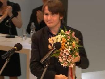 Даниил Трифонов на церемонии вручения наград конкурса Чайковского. Кадр трансляции с сайта конкурса