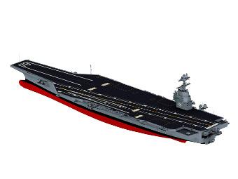 """Компьютерная модель авианосца """"Джеральд Форд"""". Изображение с сайта huntingtoningalls.com"""