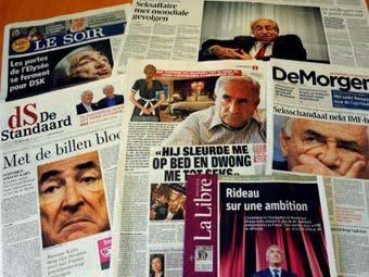 Передовицы бельгийских газет. Фото ©AFP