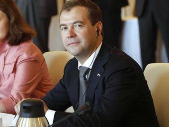 Дмитрий Медведев на форуме в Германии. Фото пресс-службы президента России