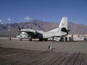 Ан-32 на авиабазе ВВС Индии Ниома. Фото с сайта in.com
