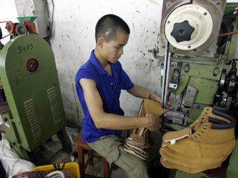 Производства на вьетнамской обувной фабрике. Фото ©AFP