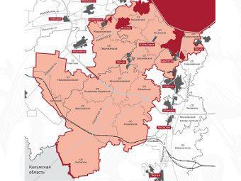 В новые границы Москвы, согласно размещенной на сайте мэрии карте, войдут 22 муниципальных образования.