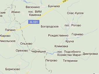 Роговское сельское поселение на границе Московской и Калужской областей. Изображение с сайта maps.google.ru
