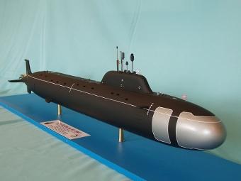 """Макет АПЛ проекта 885 """"Ясень"""". Фото с сайта paralay.com"""