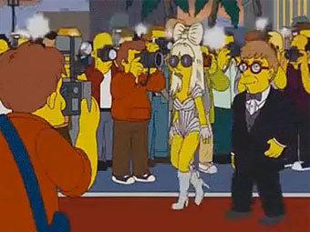 """Леди Гага в сериале """"Симпсоны"""". Кадр из видеозаписи сервиса YouTube"""