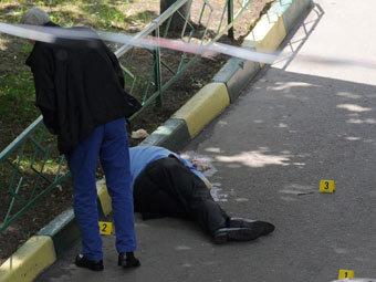Место убийства Юрия Буданова. Фото РИА Новости, Григорий Сысоев